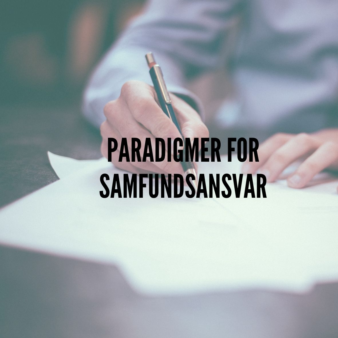 PARADIGMER FOR SAMFANSVAR